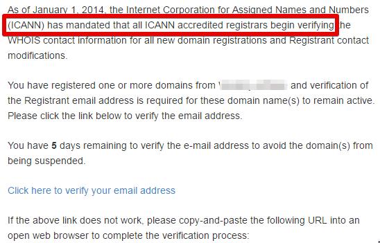 IDNS- verification with ICANN