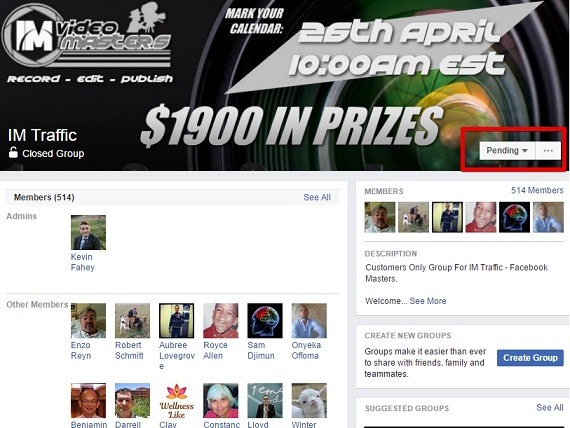 Support pending at FaceBook