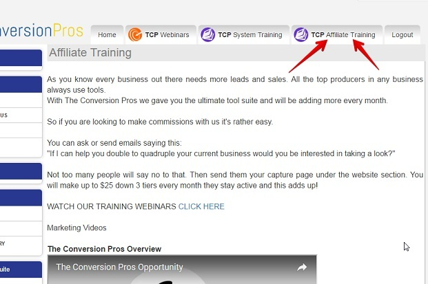 The affiliate training of the conversion pros