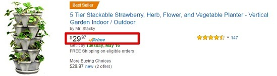 Cheaper garden towers at Amazon