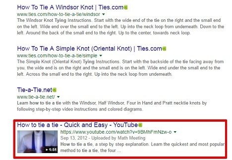 How to tie a tie Youtube Video