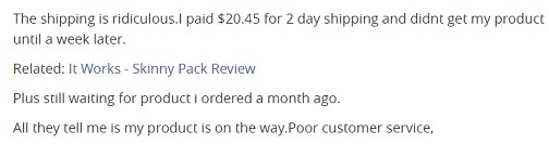 It Works customer complaints