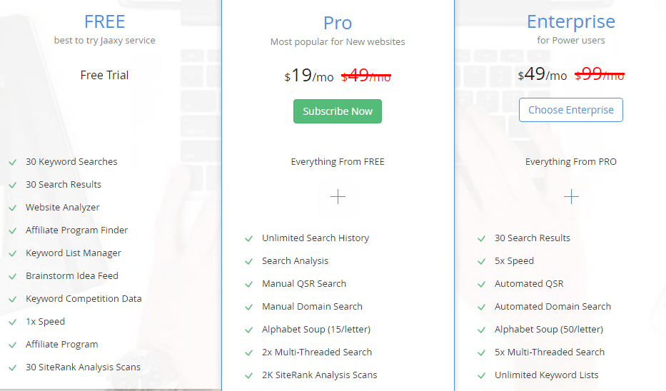 Why jaaxy is the most affordable keyword tool?