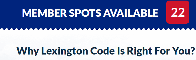 The first red flag of the lexington code