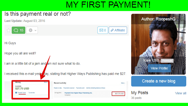 Is wealthy affiliate a scam? Here is proof that it works