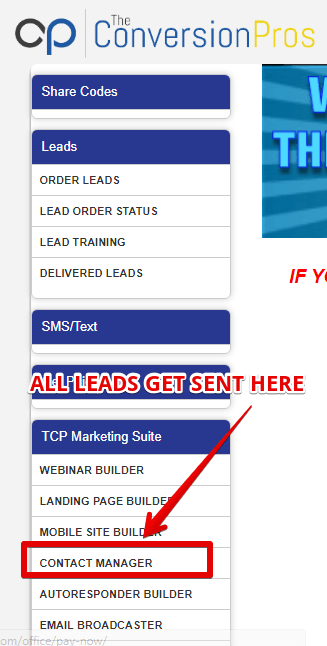 Where does your purchased leads go ?