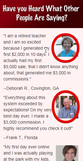 The fake testimonials of Automated Daily Income