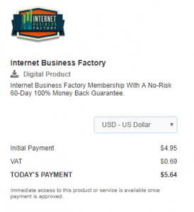 How much does it costs to join Internet Business Factory?