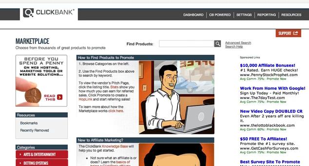 Internet Business Factory promotes Clickbank affiliate merchant