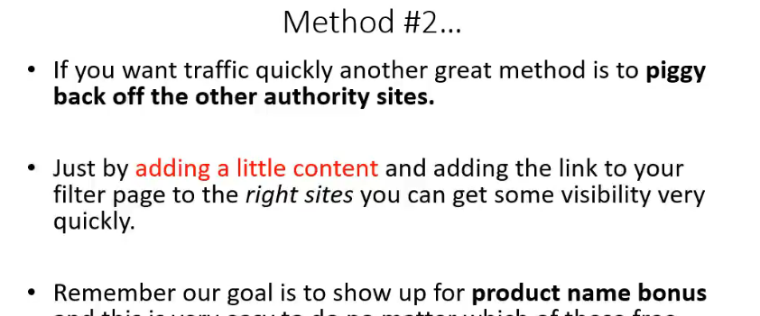 How to use the piggy back method to get free traffic to your site