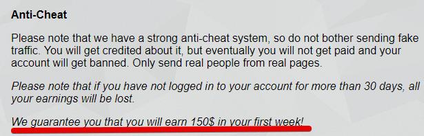 Go easy earn Guarantees that you can earn $150