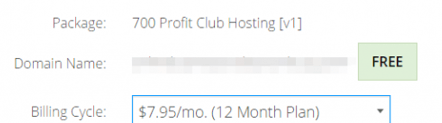 700 prfit club hosting charges