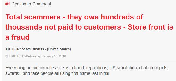 Binarymate customer complaints