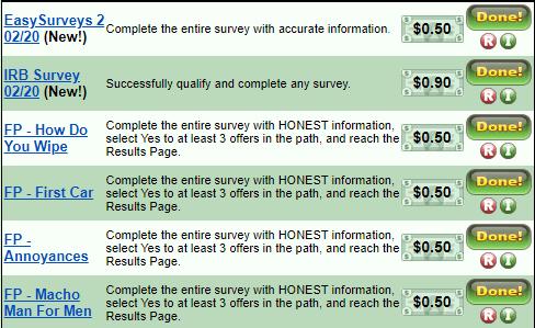 Treasure trooper surveys