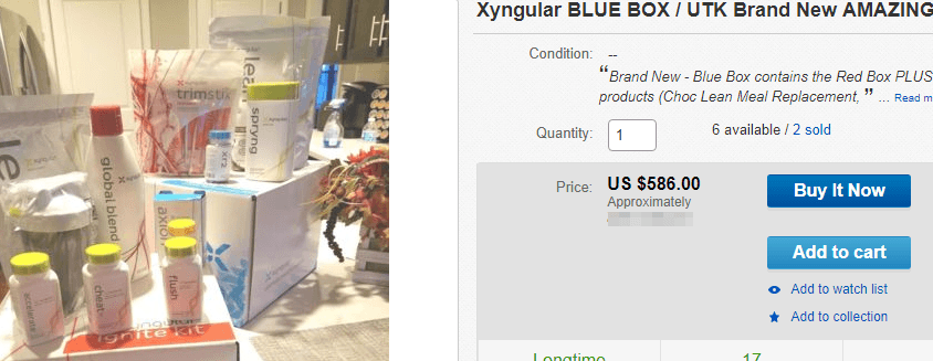 Selling Xyngular products through eBay and Amazon