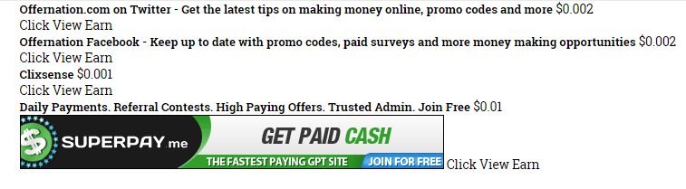 How much do you get paid for the paid to click tasks