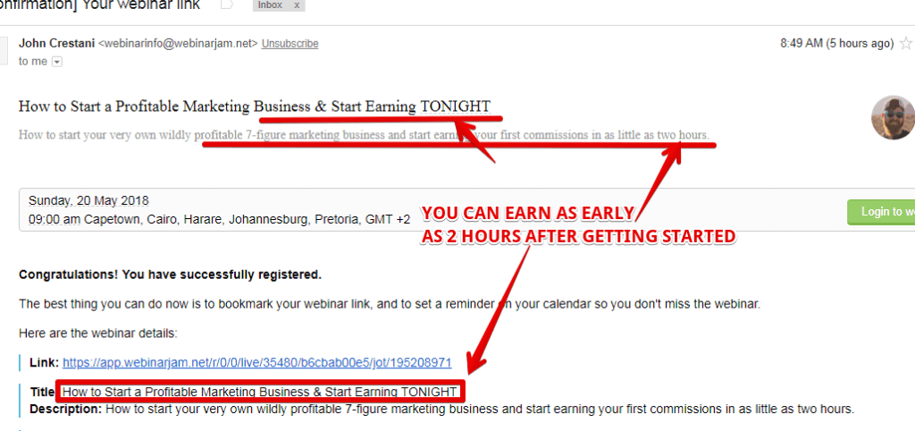Secret affiliate system is a scam, with having unrealistic money claims