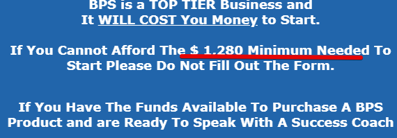 What is the minimum cost to join Big Profit system
