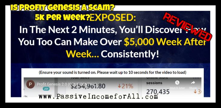 Profit Genesis 2.0 Review Is profit genesis a scam