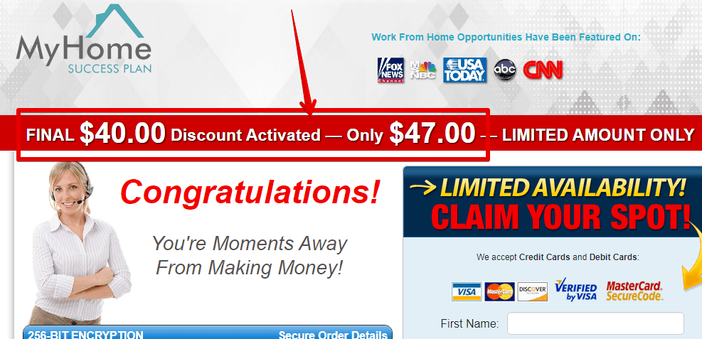 mY home success plan is a scam by offering you crazy downsells