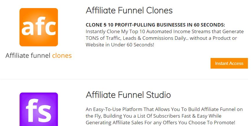 Affiliate Funnel Studio members area