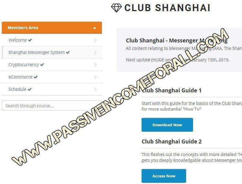 The Club Shanghai members area