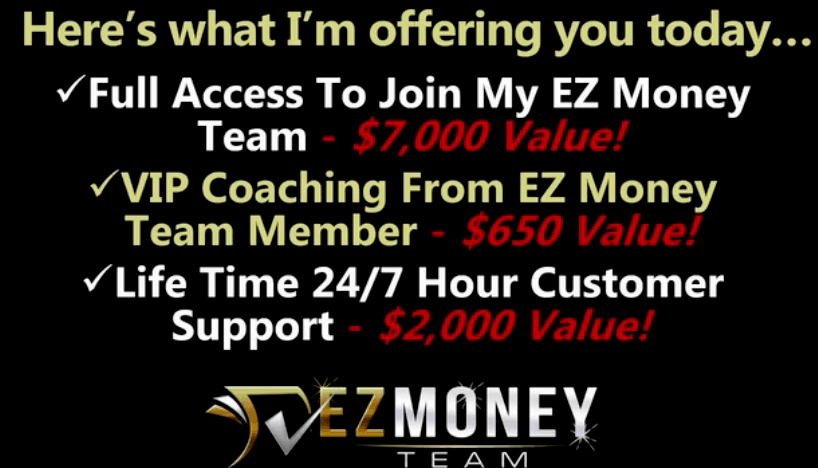 What is the value of EZ Money team