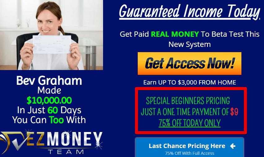 Is Ez Money Team a Scam - huge crazy discount is unheard of