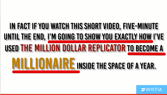 What is the Million dollar replicator all about