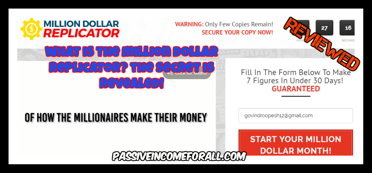 What is the MIllions Dollar Replicator all about