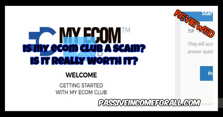 Is My ECOM cLUB A SCAM