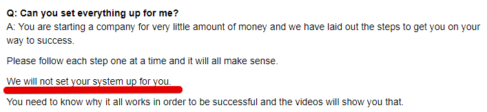 Private cash sites is a scam as they will not set up the business for you