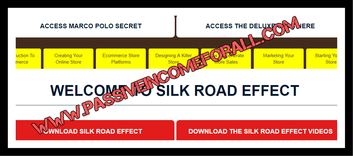 the silk road effect inside the members area