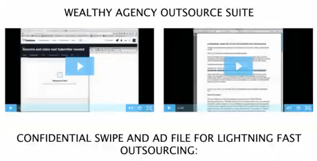 The Wealthy Agencu outsource suite is a crazy upsell