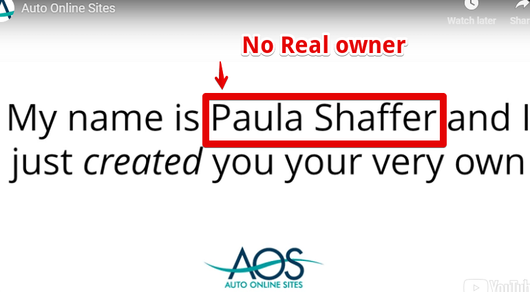 Auto Online Sites is a scam with no real owner