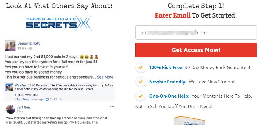 super affiliate secrets x review super affiliate secrets x and the profit shortcut have the exact same sign up page