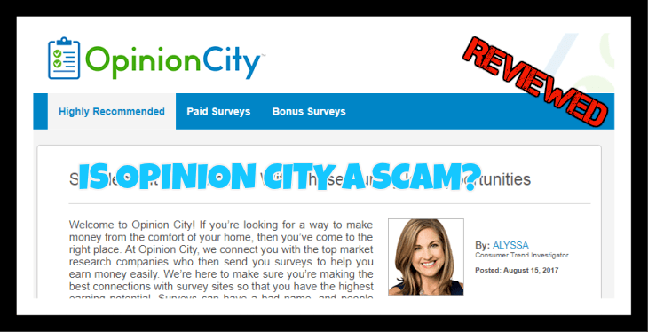 Is Opinion City a scam?