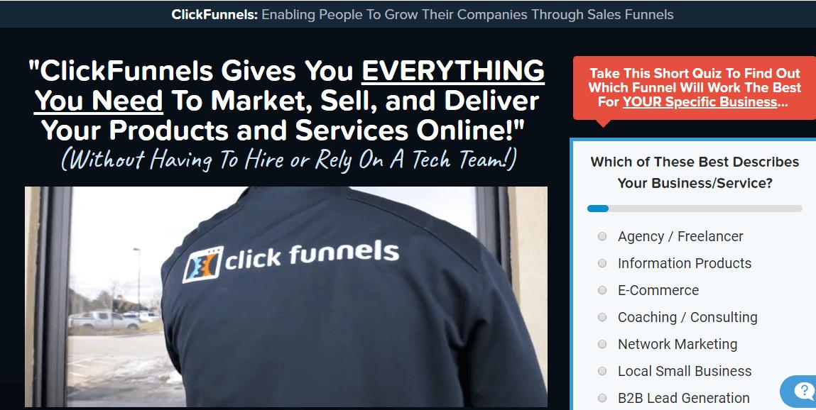 Secret affiliate machine review promoting clickfunnels