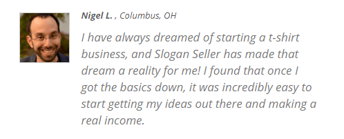 is slogan seller a scam nigel testimonial