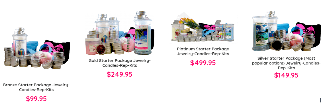 How much are the Jewelry in Candles starter packages