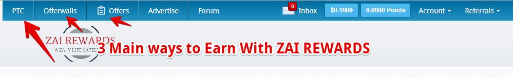 ZAI rewards review 3 main ways to earn with Zai rewards
