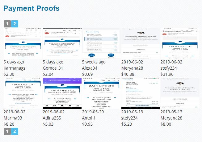 Zai Rewards review payment proof