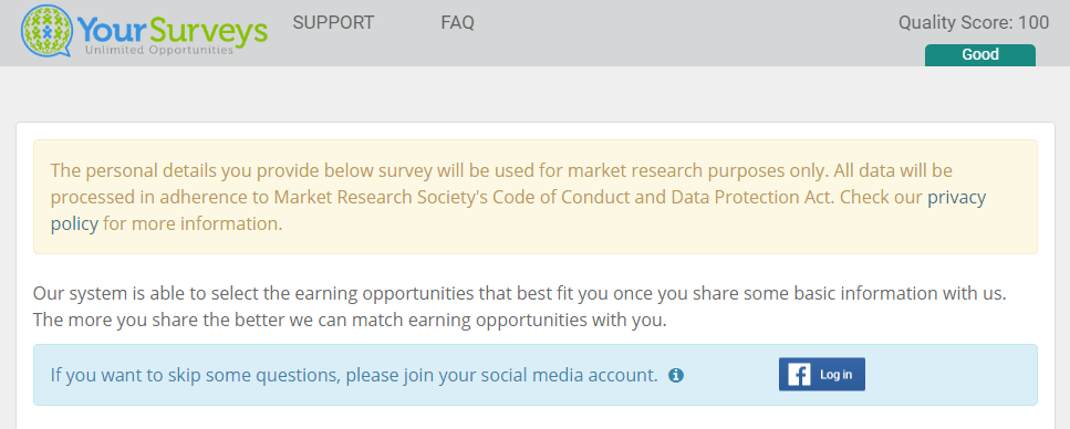 Influearn review takes you to your surveys official website