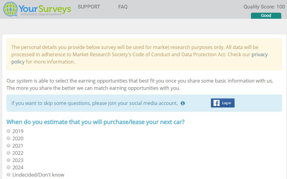 Swagpay.co takes you to yoursurveys