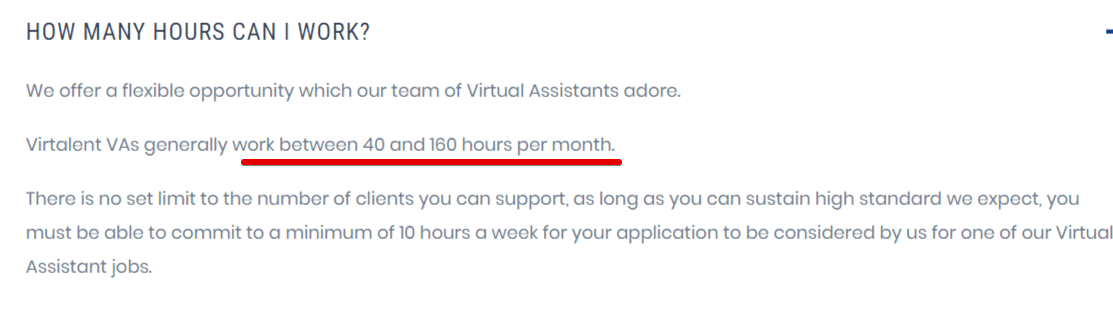 How many hours can you work with virtalent. Virtalent review