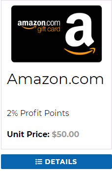 Trunited review the amazon gift cards carry a percentage profit point