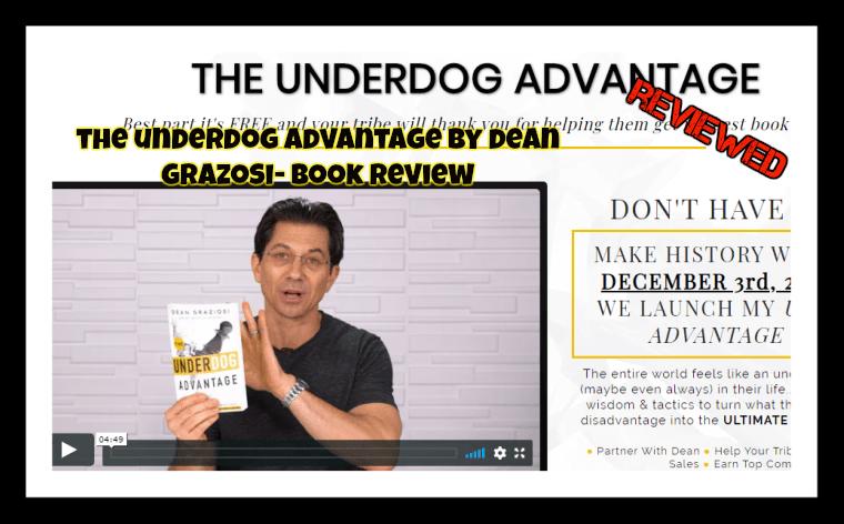 Dean Graziosi Underdog Advantage Book Review