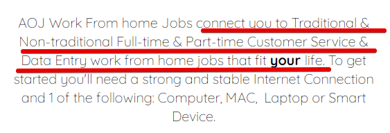 What is Aoj From Home Jobs all about