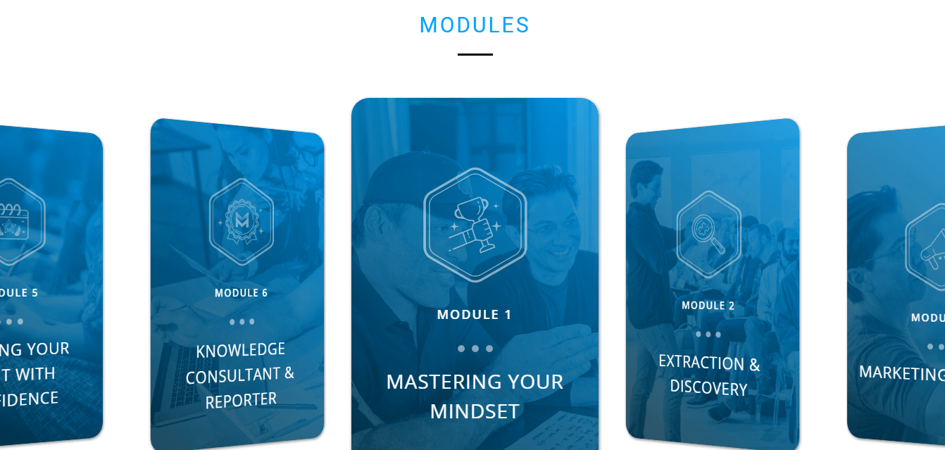 6 Modules of the KBB 2.0 course
