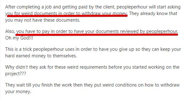 Peopleperhour review customer complaints
